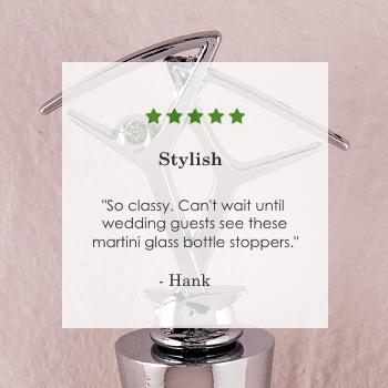 martini glass bottle stopper favors
