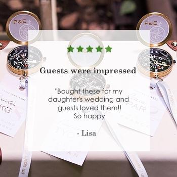 gold compass wedding favors