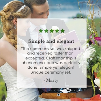 love letter ceremony set